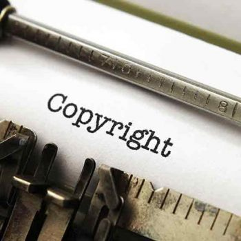 copyright typed by typewriter